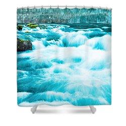 Shower Curtain featuring the photograph Blue Lagoon by Steven Bateson