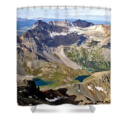 Blue Lakes Beauty Shower Curtain by Jeremy Rhoades