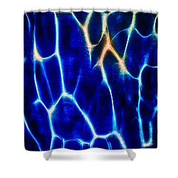Blue Lava Shower Curtain by Omaste Witkowski