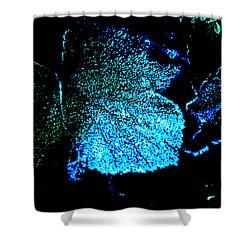 Shower Curtain featuring the digital art Blue Leaf by Randi Grace Nilsberg