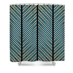 Shower Curtain featuring the digital art Blue Leaves by Darla Wood