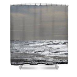 Blue Lighthouse View Shower Curtain by Susan Garren