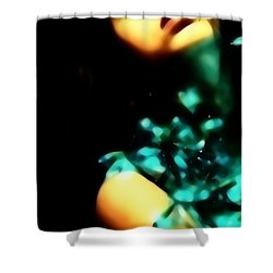 Shower Curtain featuring the photograph Blue Lights by Jessica Shelton
