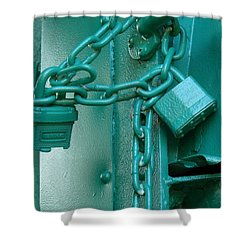 Shower Curtain featuring the photograph Blue Locks by Rodney Lee Williams