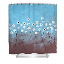 Blue Meadow Shower Curtain by Home Art