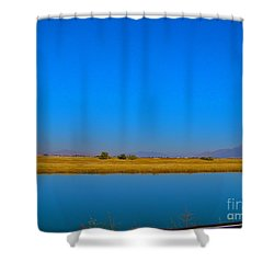 Blue Meets Blue Shower Curtain