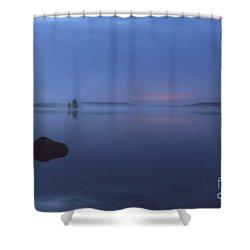 Blue Moment Shower Curtain by Veikko Suikkanen