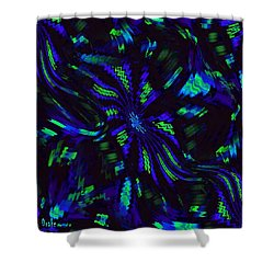 Blue Monday Shower Curtain by Alec Drake