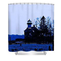 Blue Monday Shower Curtain by Joe Geraci