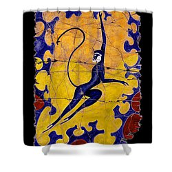 Blue Monkey No. 13 Shower Curtain