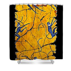 Blue Monkeys No. 41 Shower Curtain