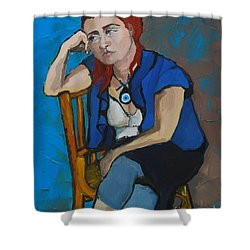 Blue Mood Shower Curtain
