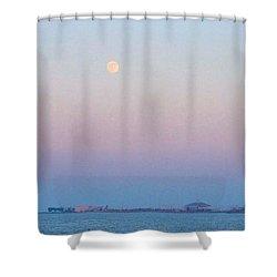 Blue Moon Eve Shower Curtain by Deborah Lacoste