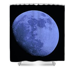 Blue Moon Shower Curtain by Tom Gari Gallery-Three-Photography