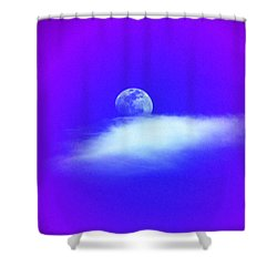 Blue Moon Lavender Sky Shower Curtain