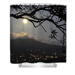 Blue Moon Over El Yunque Shower Curtain