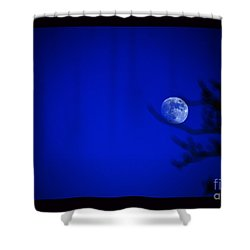 Shower Curtain featuring the photograph Blue Moon Rise by Susanne Still