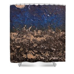 Blue Moon Shower Curtain