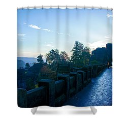 Blue Morning On The Bastei Shower Curtain