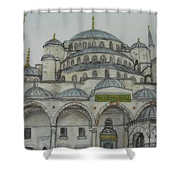 Blue Mosque Istanbul Turkey Shower Curtain