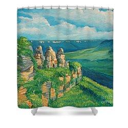 Blue Mountains Australia Shower Curtain