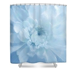 Blue Mum Luminous Painted Blossom Shower Curtain