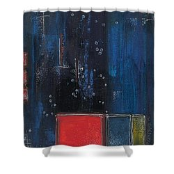 Shower Curtain featuring the painting Blue by Nicole Nadeau