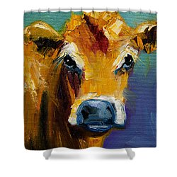 Blue Nose Cow Shower Curtain