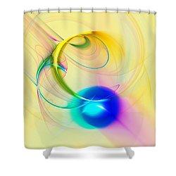 Blue Note Shower Curtain by Anastasiya Malakhova