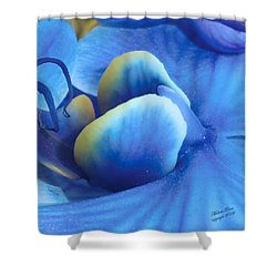 Blue Oasis Shower Curtain