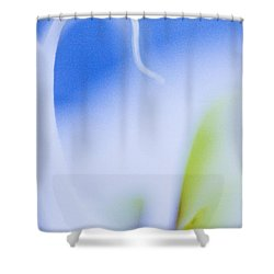 Blue Orchid Abstract Shower Curtain by Bradley R Youngberg
