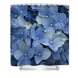 Blue Over You With Tears Shower Curtain