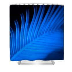 Blue Palm Shower Curtain