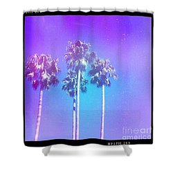 Blue Palms Shower Curtain