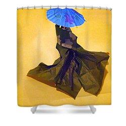 Blue Parasol Shower Curtain