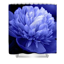 Blue Peony Shower Curtain by Sandy Keeton