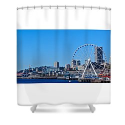 Blue Pier  Shower Curtain