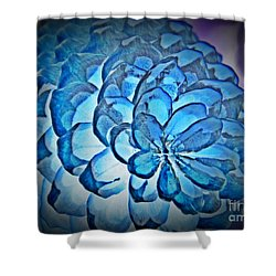 Blue Pine Cone 2 Shower Curtain