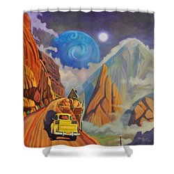 Shower Curtain featuring the painting Cliff House by Art James West