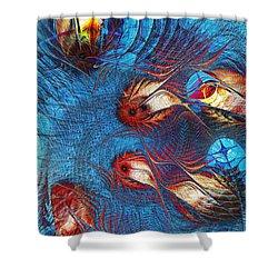 Blue Pond Shower Curtain by Anastasiya Malakhova
