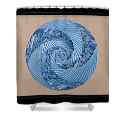 Shower Curtain featuring the mixed media Blue Pool by Ron Davidson