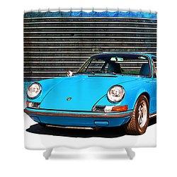 Blue Porsche 911 Shower Curtain