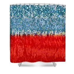 Blue Red Concept Shower Curtain