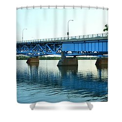 Blue Reflections Shower Curtain by Kathleen Struckle