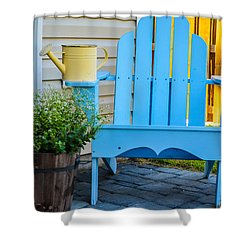 Blue Repose  Shower Curtain by Mary Ward