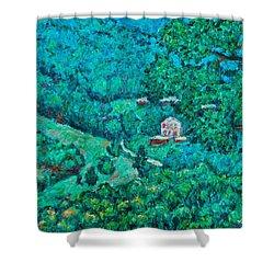 Blue Ridge Magic Shower Curtain by Kendall Kessler