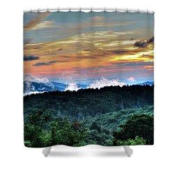 Blue Ridge Mountain Sunrise  Shower Curtain
