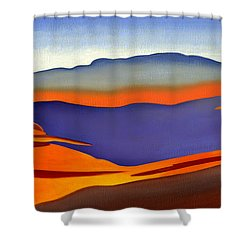 Blue Ridge Mountains East Fall Art Abstract Shower Curtain by Catherine Twomey
