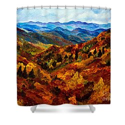 Blue Ridge Mountains In Fall II Shower Curtain