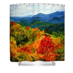Blue Ridge Mountains In Fall Shower Curtain